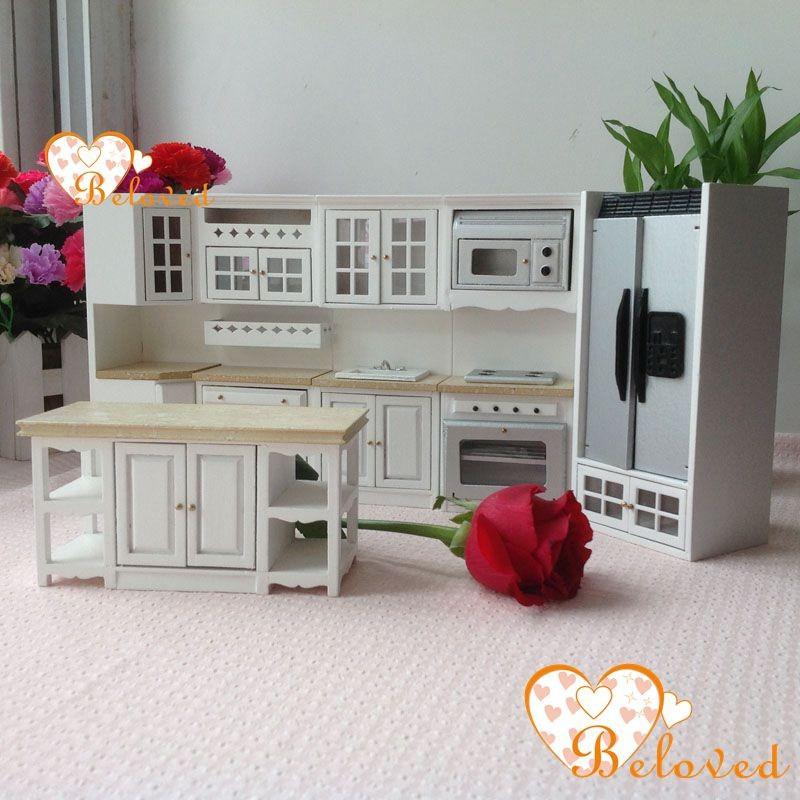bl 1 12 dollhouse miniature diy furniture wood oak kitchen